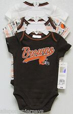 NFL NWT INFANT ONESIE-SET OF 3- CLEVELAND BROWNS 18 MONTHS