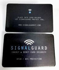 Deal 8 X Signal Guard®️RFID Wireless Illegal Credit/Debit Card Reader Blocker