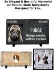 Custom Pet Memorial Grave Stone Plaque Marker HeadStone Dog Cat Horse Parrot