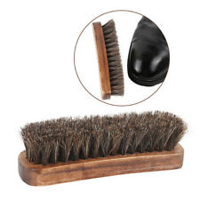 Wooden Handle Horsehair Shoe Brush Soft Polishing Tool Bootpolish Shoes CleanerF