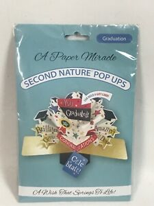 A Paper Miracle Pop Up Greeting Card Graduation Second Nature Pop Up Celebrate