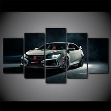 Honda Civic Type R Coupe Car 5 Pieces Canvas Wall Art Poster Print Home Deco