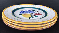 "Vintage Stangl Pottery Fruit Pattern Dinner Plates 9 3/4"" Set of 4"