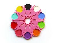 10 Einkaufswagen-Chiphalter pink / rosa, mit EKW02-Chips 1,5mm Griffrand