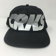 CRKS Crooks & Castles Hat Black & White Spell Out Snapback Cap OS