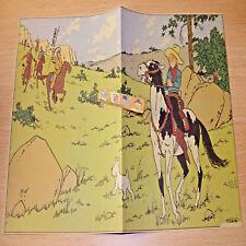 Fac-similé 1943 Poster planche Epreuve de puzzle TINTIN EN AMERIQUE 1943