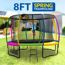 8ft Trampoline Free Ladder Spring Net Safety Pad Cover Round Basketball Set