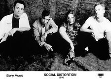 Social Distortion - Promo Photo 1996 - Mike Ness - White Light Heat Trash - Punk