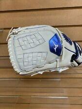 "Mizuno Softball Glove White/ Blue-Model GMVP 1250PFES8-LH Thrower-12.5"""
