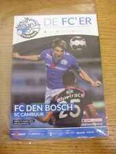 14/10/2016 Den Bosch v Cambuur  . Thanks for viewing our item, if this item has