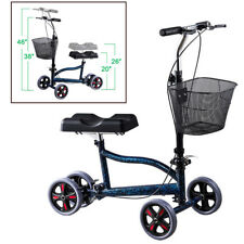 Foldable Steerable Medical Knee Walker Scooter Crutch Turning Brake Drive Cart