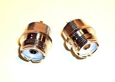 2 x NEW UHF PL259 Female Panel Mount Silver Plated Teflon Connectors