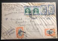 1949 Bangkok Thailand Airmail Cover To Tiverton RI USA
