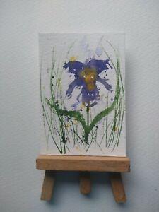 ELW Original, Aceo Cards.   Iris flower.