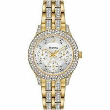 Bulova 98N112 Women's Crystal  Silver Quartz Watch