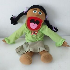 Silly Puppets Jasmine Hispanic 15 inch Full Body Puppet 2008 Green Eyes