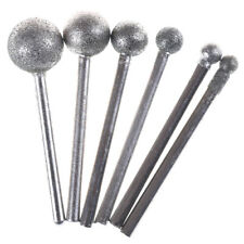 6pcs Round Diamond Grinding Wheel 3mm Round Shank for  Rotary ToolEC