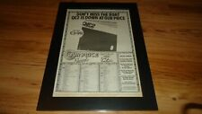 MIKE OLDFIELD QE2-1980 framed original poster sized advert