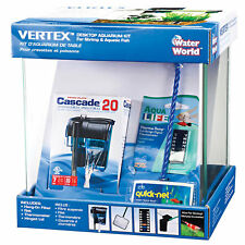 Penn Plax 2.7 Gallon Vertex Desktop Aquarium Kit, 2.7 gallons