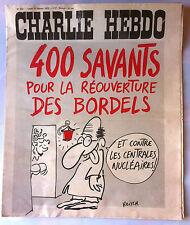 """Charlie Hebdo N°222 du 17/2/1975; """"400 savants pour la réouverture des bordels"""""""