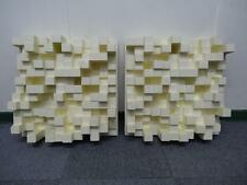 Acoustic diffuser made of absorbing polystyrene for studio and home theater need