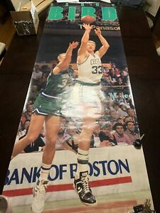 Rare Vintage Larry Bird costacos poster boston celtics 26x74