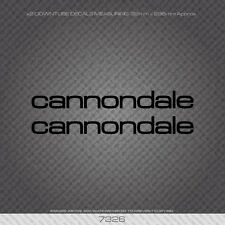 07326 Cannondale Bicycle Down Tube Stickers - Decals - Transfers - Black