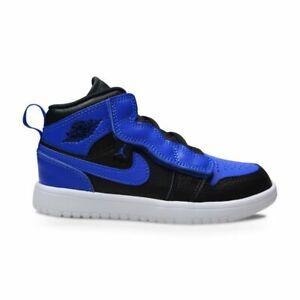 Kids Nike Jordan 1 Mid ALT (PS) - AR6351 077 - Black Hyper Royal White