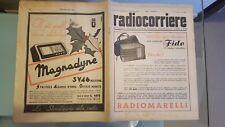 RADIOCORRIERE EIAR 1939 N° 50 PUBBLICITA' PHONOLA, DECALOGO DELL'AUTARCHIA