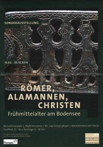 GERMAN small EXHIBITION POSTER 2014 - ROMAN ALAMANNI CHRISTIANS * ART PRINT