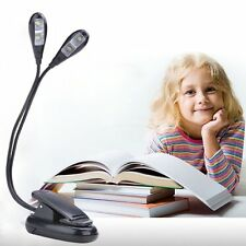 Flexible USB Rechargeable LED Clip-on Bed Table Desk PC Study Reading Light Lamp