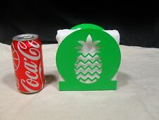 Brand New ~ Pineapple Cutout Design ~ Metal Napkin Holder ~ Light Green