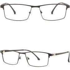 Light Mens Titanium Frame Large Metal Prescription Glasses Wide Sunglasses Black