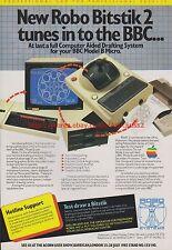 Robo Bitstik 2 Apple 1985 Vintage Magazine Advert #7698