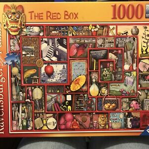 RAVENSBURGER 'The Red Box' 1000 Piece Jigsaw Puzzle