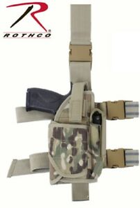 Rothco Multicam Universal Deluxe Adjustable Drop Leg Tactical Holster 10751