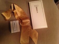 Ilana Jivago  Gold Pure Silk Women's Neck Scarf NEW, With sample parfum