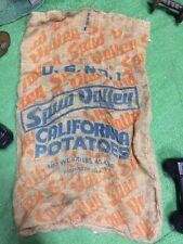Vintage 100 Lb Sun Valley California No 1 Potato Burlap Gunny Sack Bags