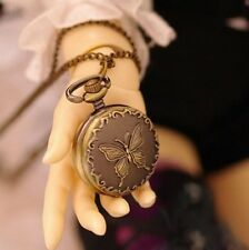 Pocket Watch 1/3 1/4 BJD accessories MSD Super Dollfie SD doll toy butterfly DZ
