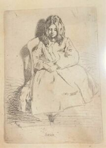 James MacNeill Whistler ETCHING 'Annie'