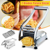 Potato French Fries Chip Machine Stainless Steel Cutter Slicer Chipper 2 Blades*