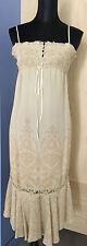 Whistles Beige Silk Tea Length Dress - Size 4