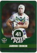 2015 NRL esp POWER PLAY CANBERRA RAIDERS JARROD CROKER SILVER PARALLEL P25 CARD