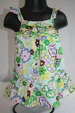 Osh Kosh Baby Girl 9 Months Hawaiian Dress Aloha Sleeveless Floral Ruffles