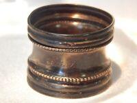 "Antique Sterling Silver Napkin Ring ""Rosa"" Monogrammed"