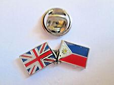 Philippines & Uk Friendship Enamel Metal Lapel Pin  -24 x 8mm   - L069