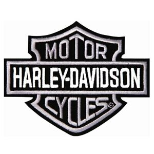 Embroidered Motorcycle / Biker Patch Pair - HD
