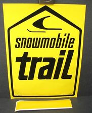 Vintage NOS 1960s Skidoo Snowmobile Vinyl Trail Sign Marker Closed Dealership