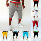 Mens 3/4 Shorts Capri Loose Harem Jogger Hiphop Dance Gym Sport Pants Slacks