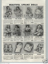 1955 PAPER AD Ideal Doll Dolls Mary Hartline Toni Saucy Walker Snookie Twins